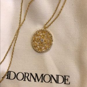 Jewelry - Val Gold Crystal Pendant Necklace